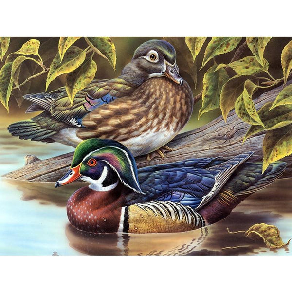 5D Diy Diamond Painting Embroidery Art Mandarin Duck VM90505
