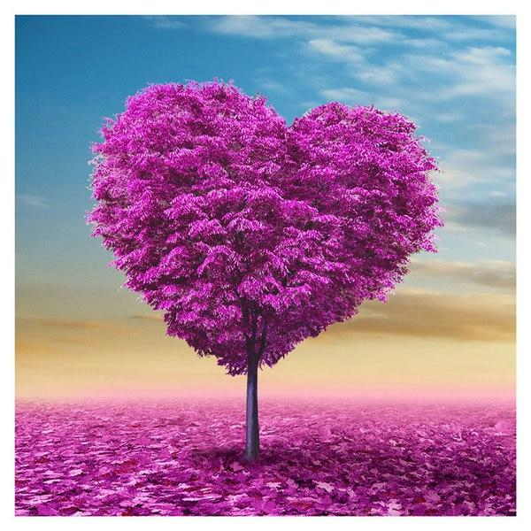 Dream Full Drill Heart Tree 5d Diy Cross Stitch Diamond Painting Kits NA0989