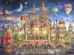 Full Drill Cartoon Castle 5D Diy Cross Stitch Diamond Painting Kits NA0042