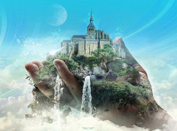 Full Drill Fantasy Castle 5D Diy Cross Stitch Diamond Painting Kits NA0036