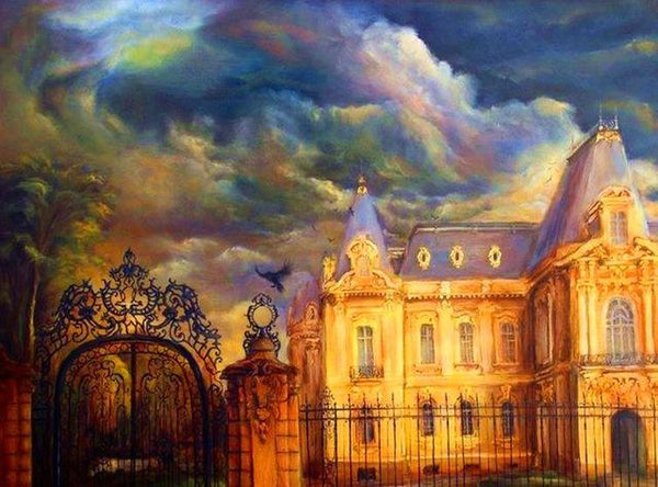 Full Drill Dream Castle 5D Diy Oil Painting Style Diamond Painting Kits NA0034