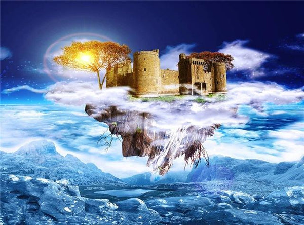 Full Drill Fantasy Castle 5D Diy Cross Stitch Diamond Painting Kits NA0032