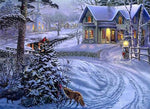 2019 5d Diy Diamond Painting Kits Snowy Village In Winter VM7635