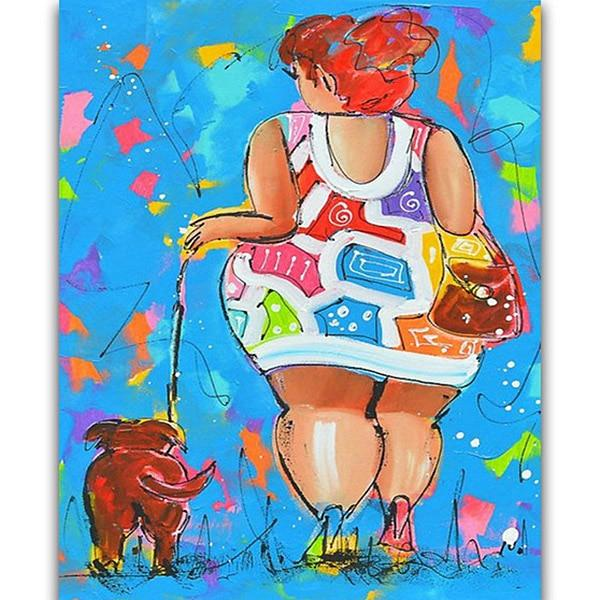 2019 5d Diy Diamond Painting Kits Cartoon Fat Woman VM79132