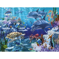 5D DIY Diamond Painting Kits Seabed Dolphin Turtle VM92269