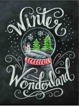 2019 5D DIY Diamond Painting Kits Crystall Ball And Winter Wonderland VM90066