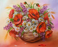 2019 5d Diy Diamond Painting Flower Kits Red And White  VM3607 (1767003095130)
