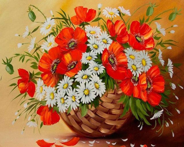 Oil Painting Style New Arrival Flower Diamond Painting Cross Stitch Kits VM7543
