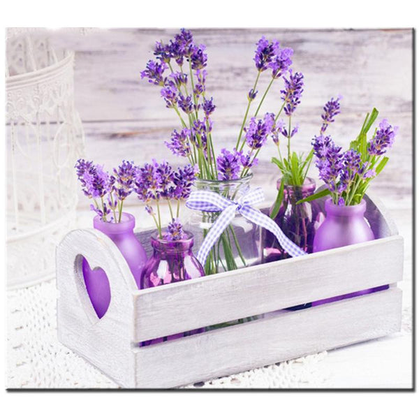 2019 5D DIY Diamond Painting Kits Purple Lavender M91051