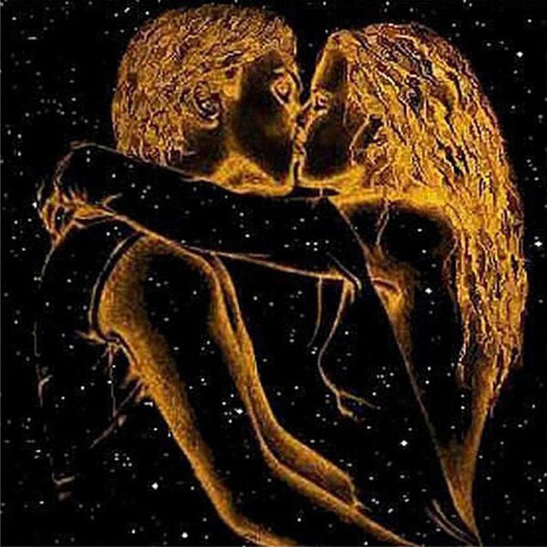 Hot Sale Special Lover Kiss In Night Pattern 5d Diy Diamond Painting Kits VM9904
