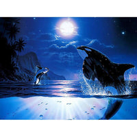 5D Diamond Painting Cross Stitch Kits Fantasy Dream Dolphin  VM7529