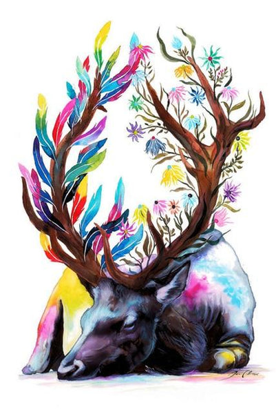 5D DIY Diamond Painting Kits Special Deer NA0828
