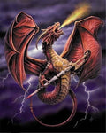 5d Diy Diamond Painting Kits Flame Throwing Dragon  VM9906