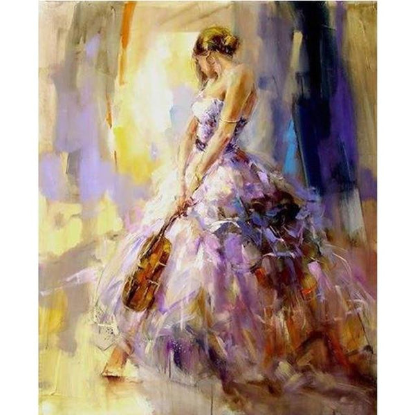 5d Diy Diamond Painting Cross Stitch Kits Beautiful Girl VM03654