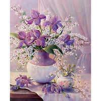 2019 5d Diy Diamond Painting Kits Lavender And Pink Flower VM3668 (1767008403546)