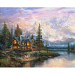 5d Diy Diamond Painting Cross Stitch Kits Natural Mountain VM3655