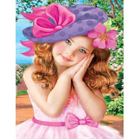 5d Diy Diamond Painting Kits Beautiful Girl  VM3652 (1767007223898)