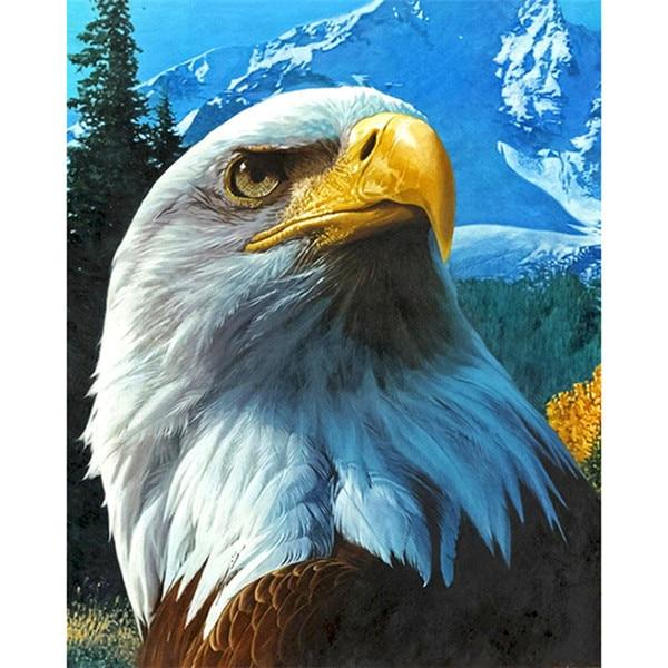 2019 5d Diy Diamond Painting Kits Eagle Protrait VM7812