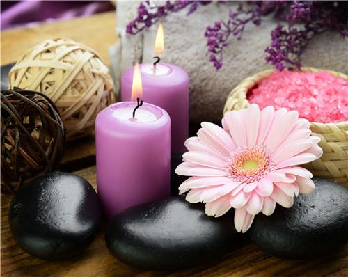 2019 5d Diy Diamond Painting Kits Flower Orchid Stone Candle VM9571