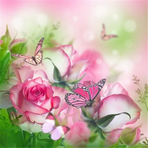 Dream Pink Flowers And Butterfly 5d Diy Diamond Painting Kits VM7903