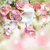 2019 5d Diy Diamond Painting Kits Pink Flowers Butterfly VM7902