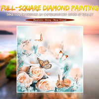 Hot Sale Pink Flowers And Butterfly 5d Diy Diamond Painting Kits VM7904