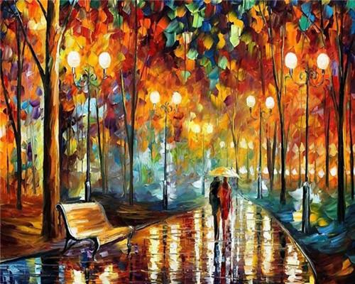 2019 5d Diy Diamond Painting Kits Oil Painting Style Street VM08578