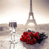 Modern Art Crystal Wall Decor Eiffel Tower 5d Cross Stitch Kits VM8508