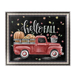 2019 5d DIY Diamond Painting Blackboard Kits Red Truck VM90300