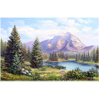 5D DIY Diamond Painting Embroidery Rhinestone Mountain Forest VM92081