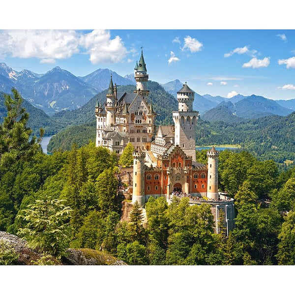 New Full Square Drill Castle 5D Diy Cross Stitch Diamond Painting Kits NA0016