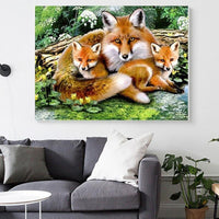 2019 5D DIY Diamond Painting Kits Mosaic Painting Home Decor Fox VM8291