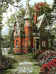 Oil Painting Style Landscape Castle 5D Diy Cross Stitch Diamond Painting Kits NA0029