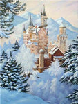 Full Square Drill Landscape Winter Castle 5D Diy Diamond Painting Kits NA0031