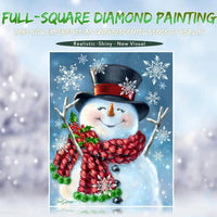 2019 5d Diy Diamond Painting Winter Snowman VM1169 (1766953844826)