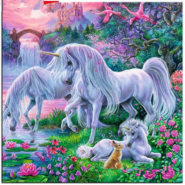 2019 5d Diy Diamond Painting Kits  Unicorn Family VM7603