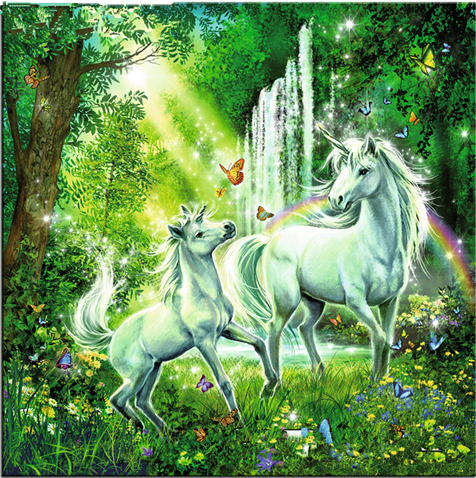 2019 5d Diy Diamond Painting Kits Unicorns in the woods VM7618