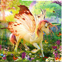 2019 5d Diy Diamond Painting Kits Unicorn in the woods VM7617