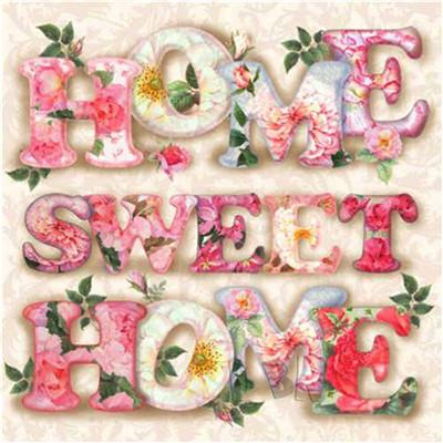 5d Diy Rhinestone Painting Kit Hot Sale Letter Sweet Home VM65403 (1766955941978)