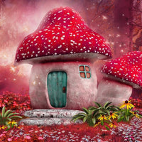 Fantasy Special Magic Forest Mushroom House 5d Diy Diamond Painting Kits VM4171 (1767045202010)
