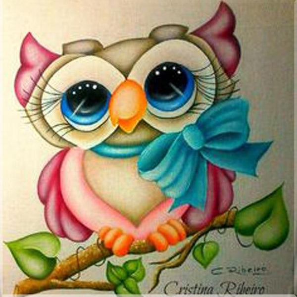 5d Diy Rhinestone Cross Stitch Kits Colorful Cute Owl VM1370 (1766950797402)