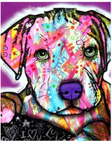 5d Diy Diamond Painting Beads Special Colorful Dog  VM1938 (1766961938522)