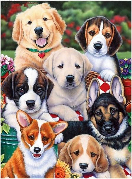 New Arrival Hot Sale Pet Cute Dog Pattern 5d Diy Diamond Painting Kits VM9605