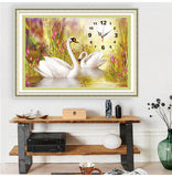 Dream 2019 Wall Clock 5D DIY Diamond Painting Embroidery Cross Stitch Kits NB0304