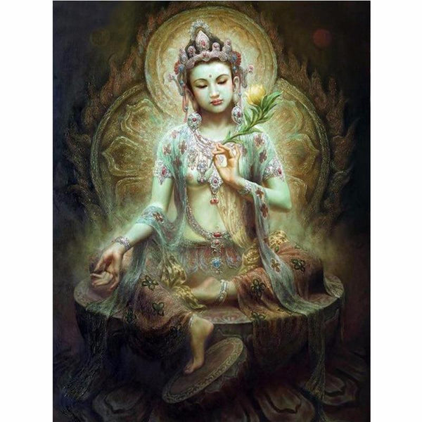 5D DIY Diamond Painting Kits Cross Stitch Art Portrait Bodhisattva VM92211
