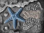 5d DIY Diamond Painting Kits Blackboard Starfish Decor VM8176