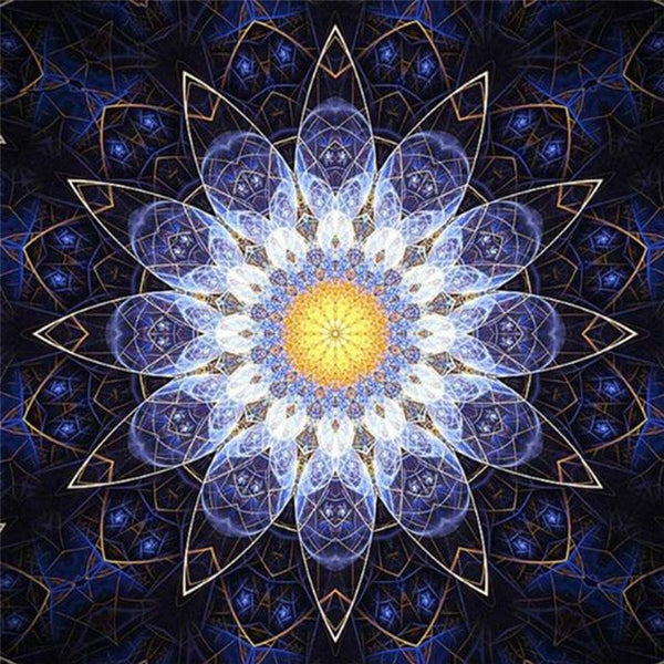 Modern Art Styles Full Square Canvas Abstract Mandala 5d Diy Diamond Painting Kits VM8646