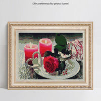 Hot Sale 2019 Wall Decoration Flower And Candle Diamond Painting Cross Stitch Kits VM7526
