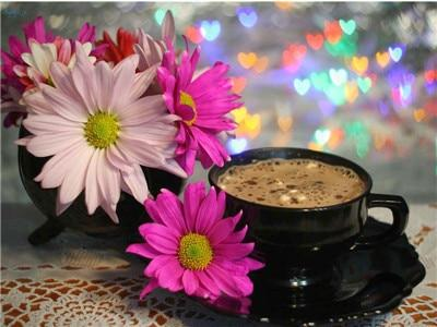 5d Diy Crystal Painting Kits Coffee Cup And Flower Picture VM3016 (1766986317914)