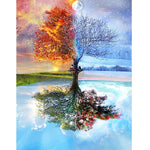 Four Seasons Dream Landscape Tree 5d Diy Diamond Painting Kits VM9629